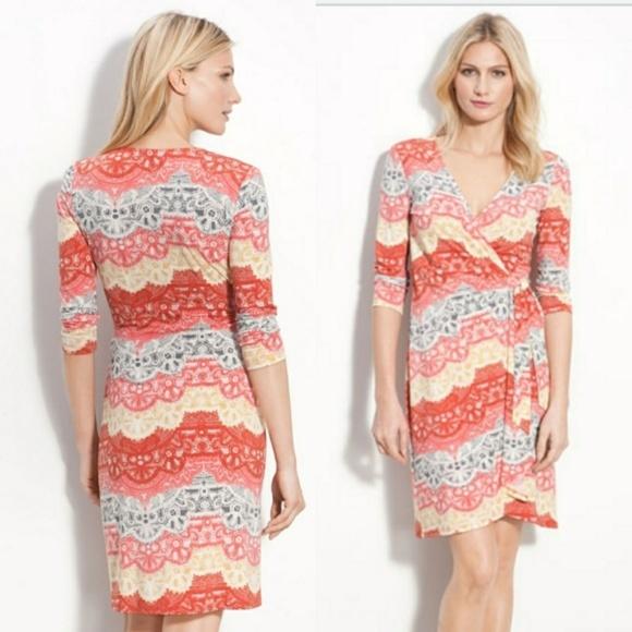 0b12e534 BCBG MaxAzria Dresses | Bcbgmaxazria Faux Wrap Jersey Dress Small ...
